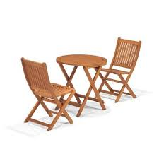 Folding Patio Bistro Set Hampton Bay Folding Wood 3 Piece Bistro Set 2066700500 Home