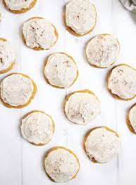 soft pumpkin cookies with brown sugar frosting the merrythought