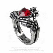 gothic ruby rings images Claddagh by night ring necromancynecromancy jpg