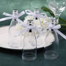 girl baby shower favors fillable chagne bottles candy jars wedding party baby shower