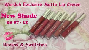 Lipstik Wardah Exclusive Light wardah exclusive matte lipcream new shade review swatchess