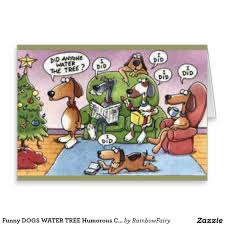 humorous christmas cards dogs water tree humorous christmas card artwork designed by