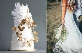 Angel Decorated Cake Boho Wedding Cakes With Feathers Cake Geek Magazine