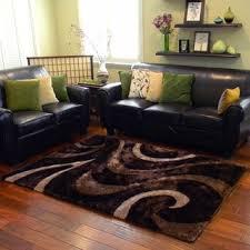 Chocolate Area Rug Donnie Ann Shaggy Abstract Swirl Brown Area Rug 5 U0027x 7 U0027 Free