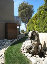 los angeles pool pump cover landscape modern with grass walkway