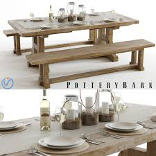 Pottery Barn Dining Room Set by Pottery Barn Stafford Table U0026 Benches