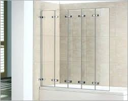 Folding Shower Door Folding Shower Door Bi Fold Doors For Tubs Pleated X Ivory 2