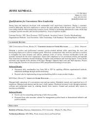Store Manager Resume Examples Gas Station Clerk Cover Letter