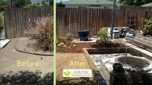 Backyard Renovations Before And After Functional Smart Garden Renovation Linda Vista Landscape