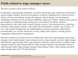 Stage Manager Resume Template Top 5 Stage Manager Cover Letter Samples