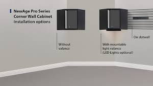 new age pro series cabinets corner wall cabinet ca newage products