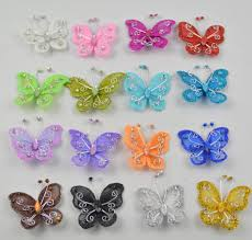 Glitter Butterfly Christmas Decorations by Artificial Glitter Butterflies Promotion Shop For Promotional