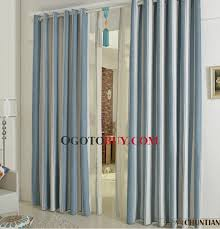 Hotel Drapes Shabby Chic Blue Striped Blended Material Hotel Curtains Buy Blue