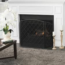 angella 3 panelled iron fireplace screen u2013 gdf studio