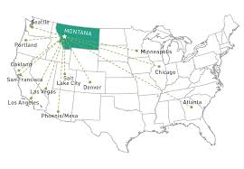 Alaska Airlines Flight Map by Meetings Conventions Destination Missoula