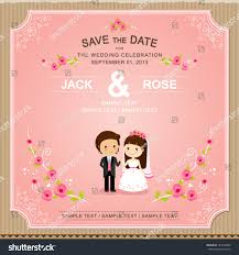Thailand Wedding Invitation Card Cute Pink Rose Wedding Invitation Card Stock Vector 141894832