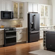 white kitchen cabinets with black slate appliances exploring alternative ge appliances premium finishes home