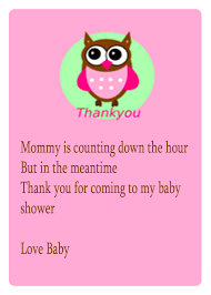 thank you baby shower baby shower thank you poems