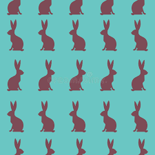 easter wrapping paper seamless easter pattern colorful season texture with rabbits