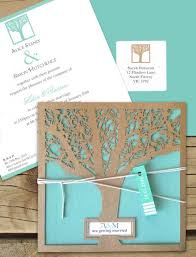 wedding invitations online australia enchanted tree kraft laser cut invitaton online australia