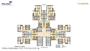 typical floor plan lodha palava central park mumbai