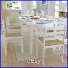 lot de 6 chaises salle à manger vidaxl lot de 6 chaises de salle à manger bois carrée blanche
