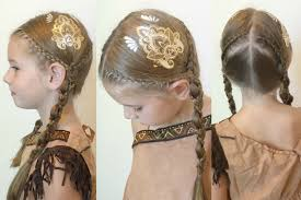 scunci hair pocahontas inspired braids with scunci hair tattoos