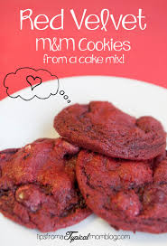 red velvet cake mix m u0026m cookies tips from a typical mom