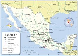 Map Of State by State Map Of Mexico States And Major Cities Prepossessing Map Of