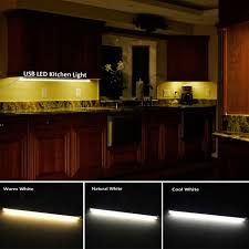 warm white led under cabinet lighting led kitchen lights 5v usb rigid led strip light dimmable aluminum