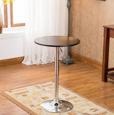 amazon com roundhill furniture adjustable height wood and chrome