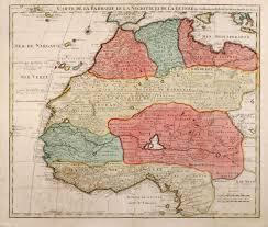Map West Africa by Carte De La Barbarie Le La Nigritie Et De La De L U0027isle North