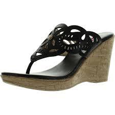 c label midori 4 womens slip on beaded rhinestone t strap thong
