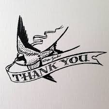 Thank You Card Designs Thank You U0027 Swallow Design Greetings Card By Have A Gander