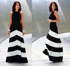 plus size striped summer style maxi dress xl xxl party beach