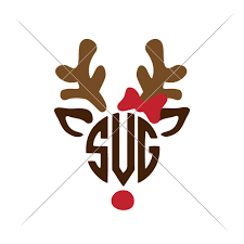 monogram christmas reindeer for monogram christmas sofontsy