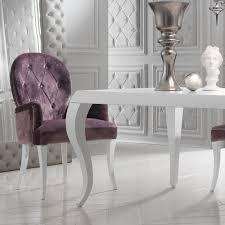 luxury italian designer velvet purple dining set juliettes