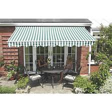 White Awning Greenhurst Henley Extendable Patio Awning Green White 2 5 X 2m