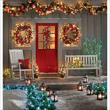 diy the best pre lit garland outdoor ideas cordless lighted