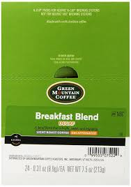 keurig k cups light roast green mountain coffee decaf breakfast blend light roast coffee k