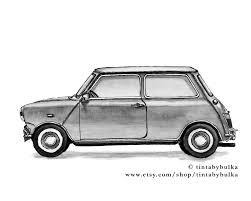 mini print automotive fine art classic car automotive art home