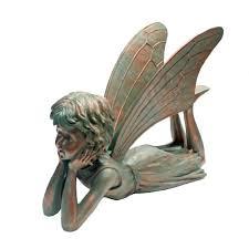 fairy garden statues suffolk fairies 15 in dreamer garden statue 99010 the home depot