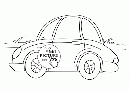 small car coloring kids transportation coloring pages