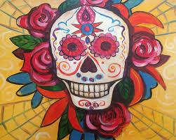 dia de los muertos sugar skulls painting and wine class dia de los muertos sugar skull the