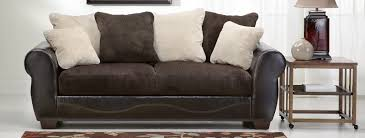 Fabric And Leather Sofa by Slumberland Faux Leather