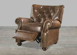 brompton brown top grain vintage leather recliner