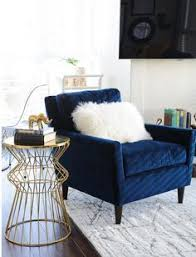 pleasing blue velvet accent chair for home decor ideas with
