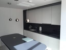 white gloss glass kitchen cabinets metallic anthracite and white gloss glass edge kitchen
