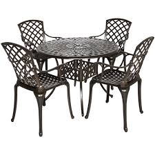 Cast Aluminum Patio Table And Chairs by Best Choice Products 42