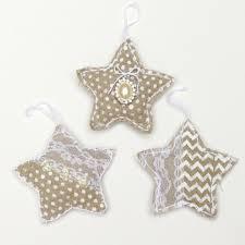 handmade ornaments shabby chic linen morena s